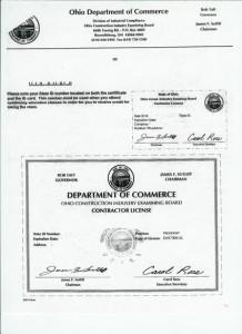 Contractors License