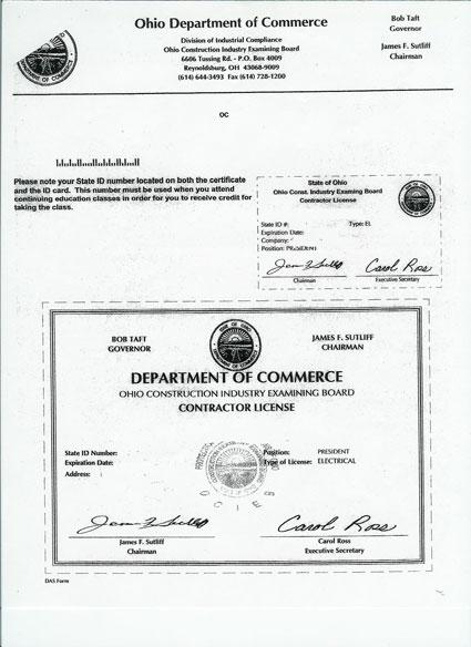 Dublin Ohio Usa 187 Contractor Registration