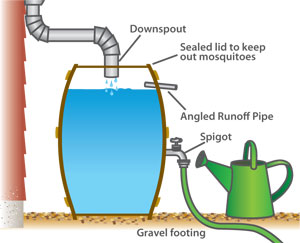 Dublin Ohio Usa 187 Conserving Water With Rain Barrels