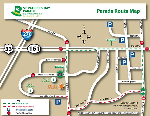 2015 St Pats - Parade Route Map