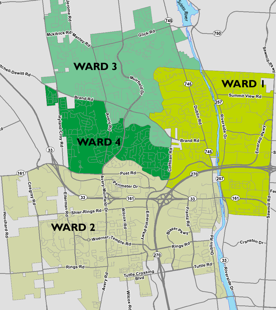 download council wards map