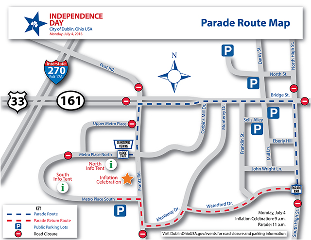 2016 St Pats - Parade Route Map