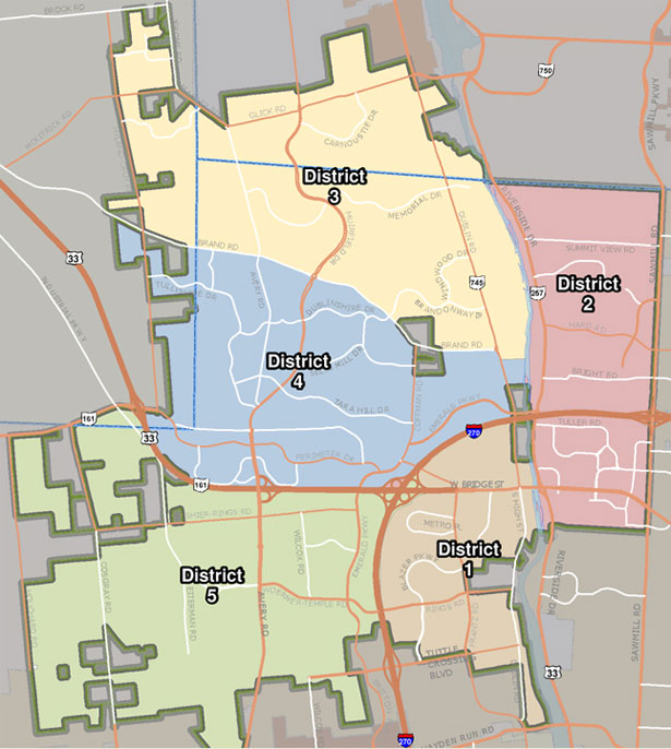Dublin, Ohio, USA » police districts