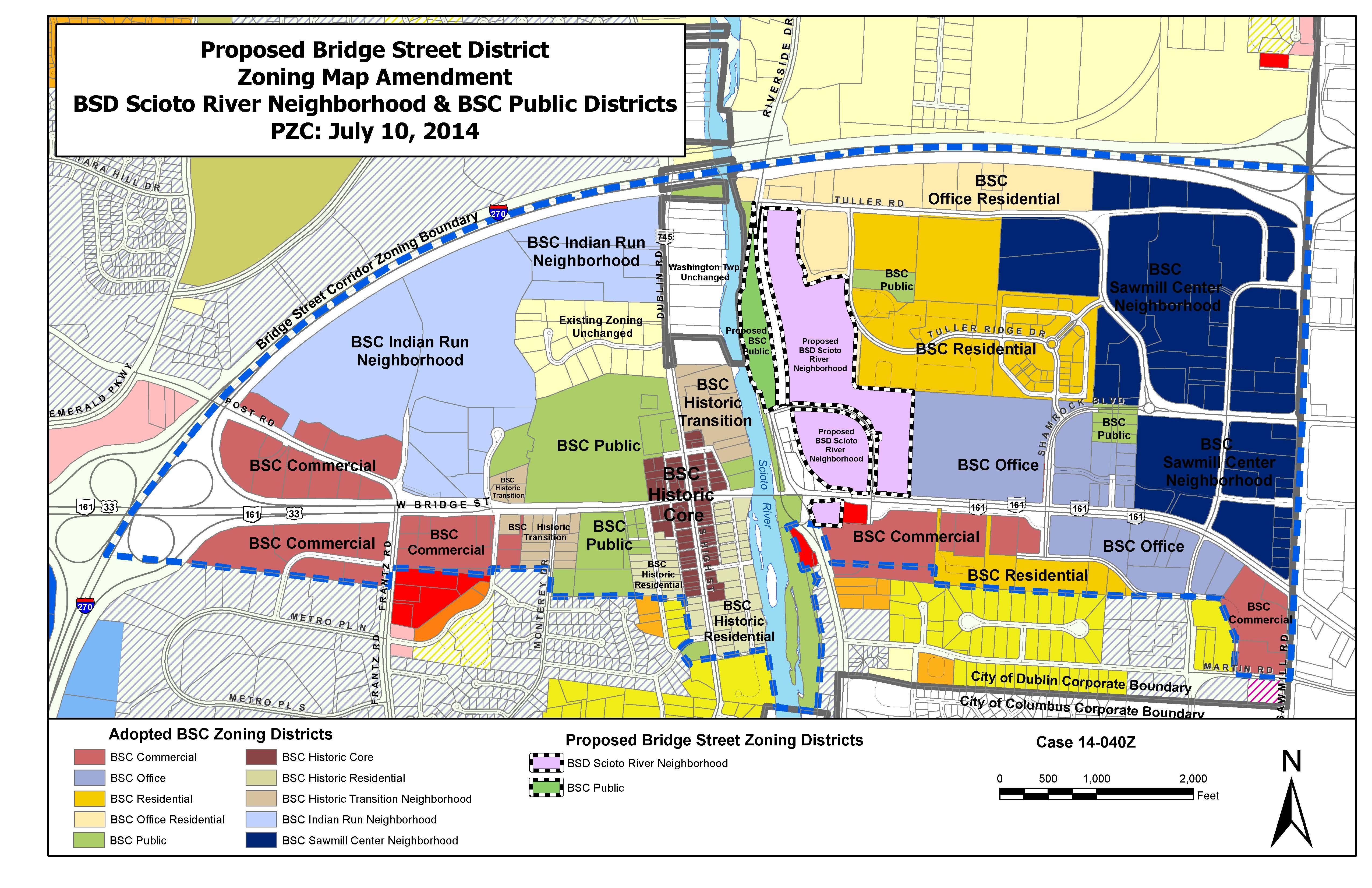 Dublin, Ohio, USA » Bridge Street District – Scioto River