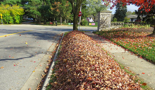 dublin ohio usa fall leaf collection running behind schedule
