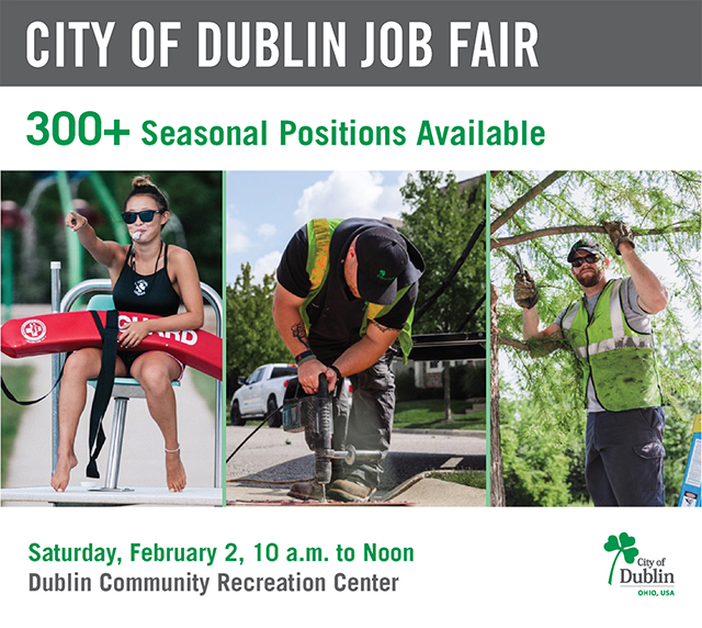 Dublin, Ohio, USA » City of Dublin Job Fair – February 2