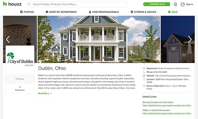 Dublin, Ohio, USA » City of Dublin Joins Houzz to Help Streamline