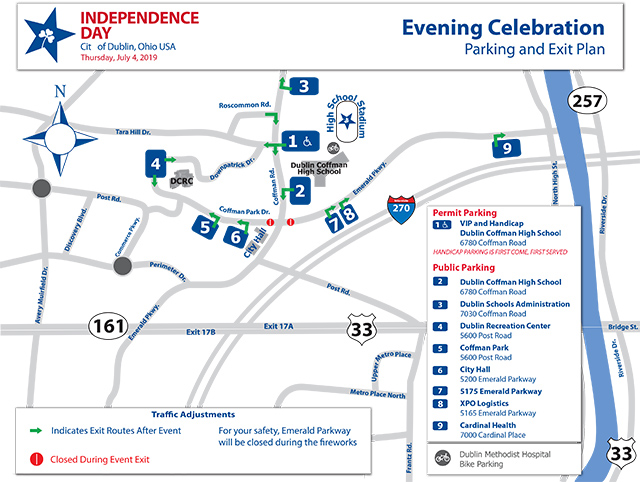 Dublin Ohio Usa Independence Day Concert Parking Safety And