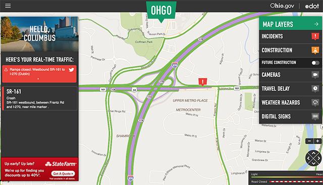 Dublin, Ohio, USA » All US 33 to I-270 Ramps Back Open
