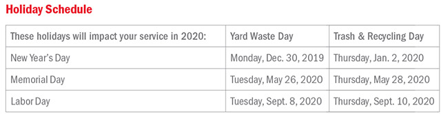 Rumpke Holiday Schedule For Christmas 2020 Dublin, Ohio, USA » Holiday Trash & Recycling Schedule